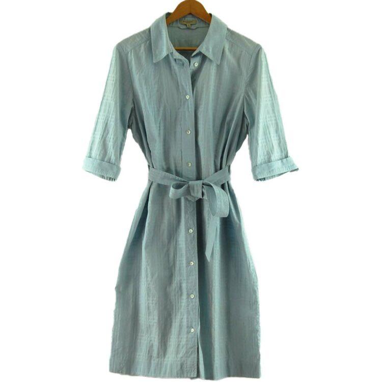 Blue Burberry Shirt Dress