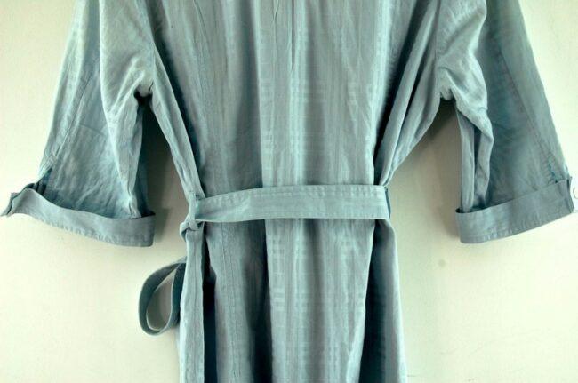 Back of Blue Burberry Shirt Dress