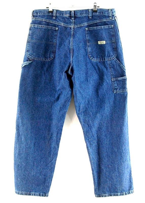 Back of Blue Denim Wrangler Carpenter Pants