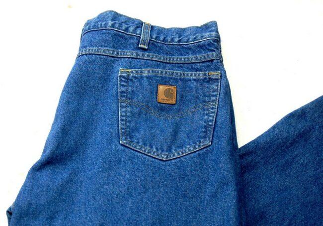 Close up of Carhartt Denim Carpenter Jeans