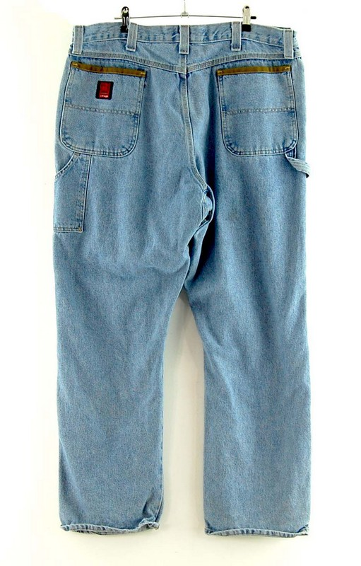 Back of Wrangler Riggs Workwear Jeans