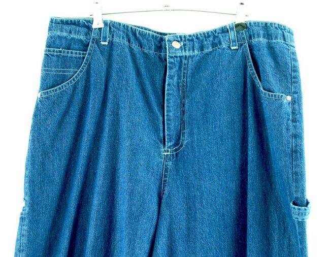Close of Blue Denim Carolina Bay Carpenter Pants