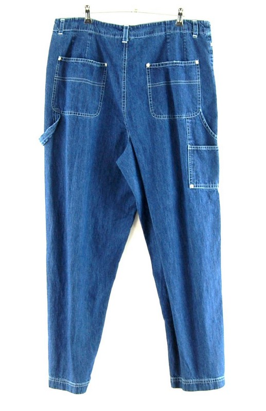 Back of Blue Denim Carolina Bay Carpenter Pants