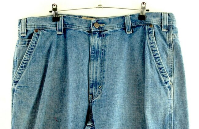 Close up of Five Pocket Denim Eddie Bauer Jeans