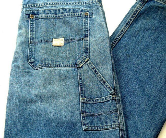 Back of Five Pocket Denim Eddie Bauer Jeans