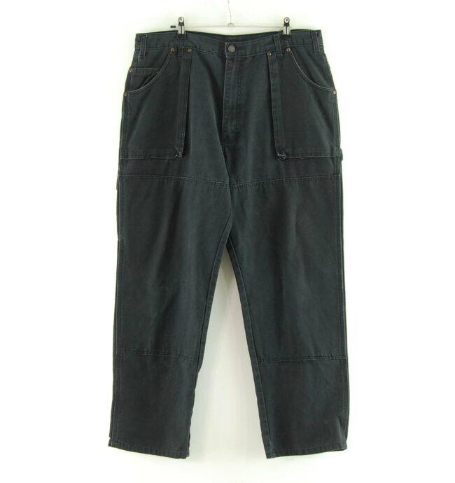Front of Black Dickies Carpenter Jeans