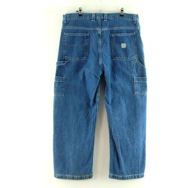 Back of Blue Denim Faded Glory Carpenter Jeans