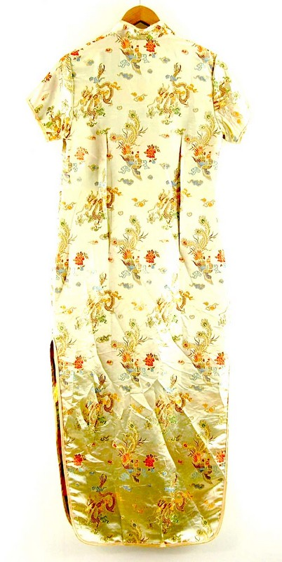 Back of Gold Chinese Dress