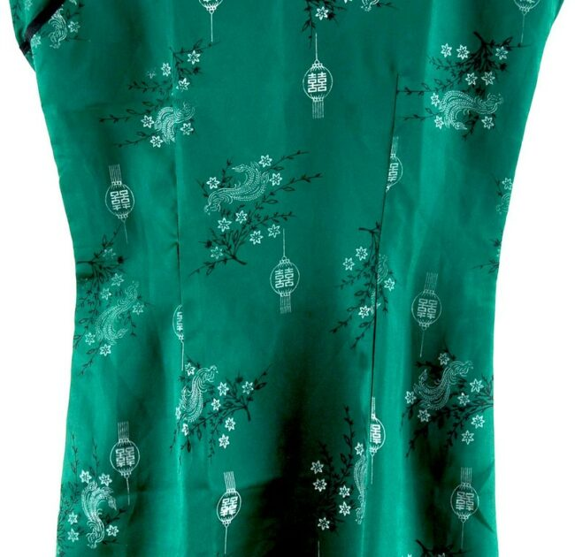 Close up of Green Chinese Dress