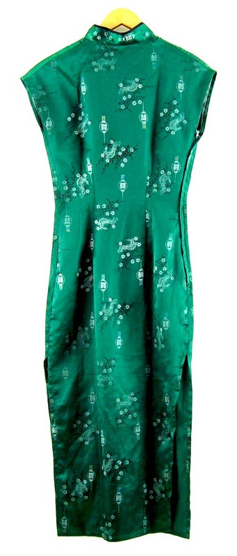 Back of Green Chinese Dress
