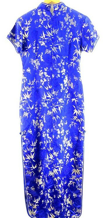 Long Blue Chinese Oriental Dress