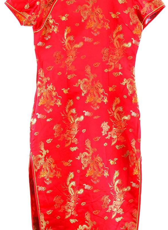 Close up Chinese Satin Dress