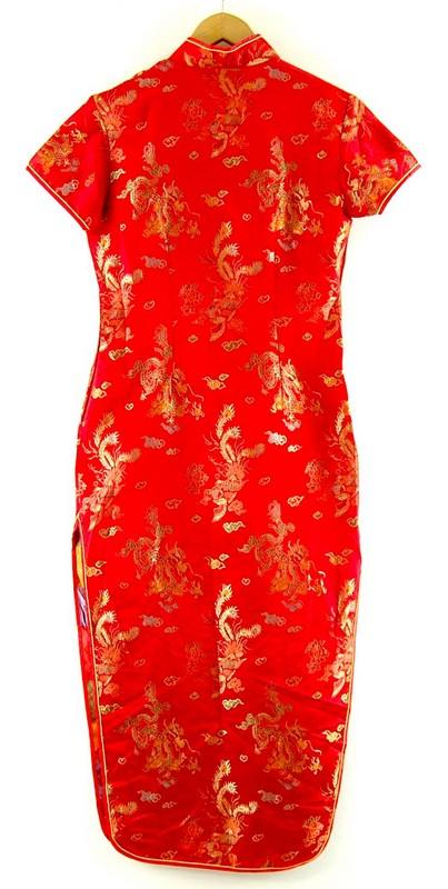 Back of Chinese Satin Dress