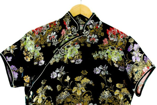Close up of Black Traditional Chinese Dress