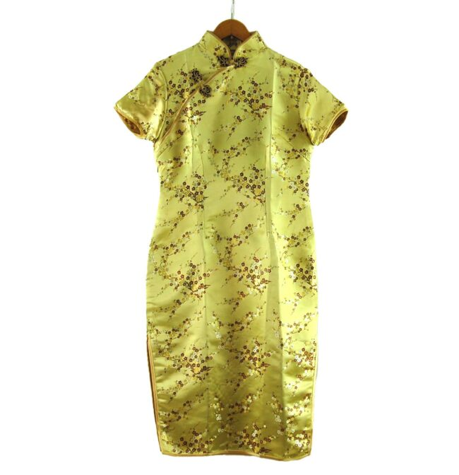 Gold Chinese Dress Vintage