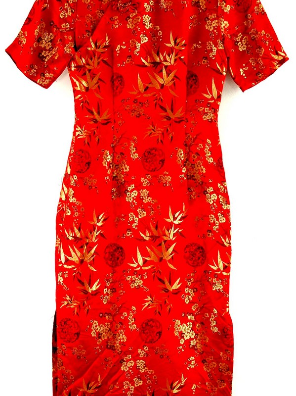 Chinese Red And Gold Dress