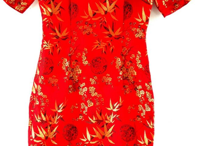 Back of Chinese Red And Gold Dress