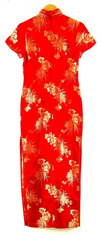 Back of Chinese Evening Dress Cheongsam