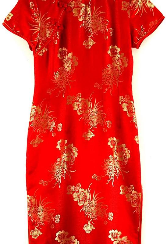Close up of Chinese Evening Dress Cheongsam