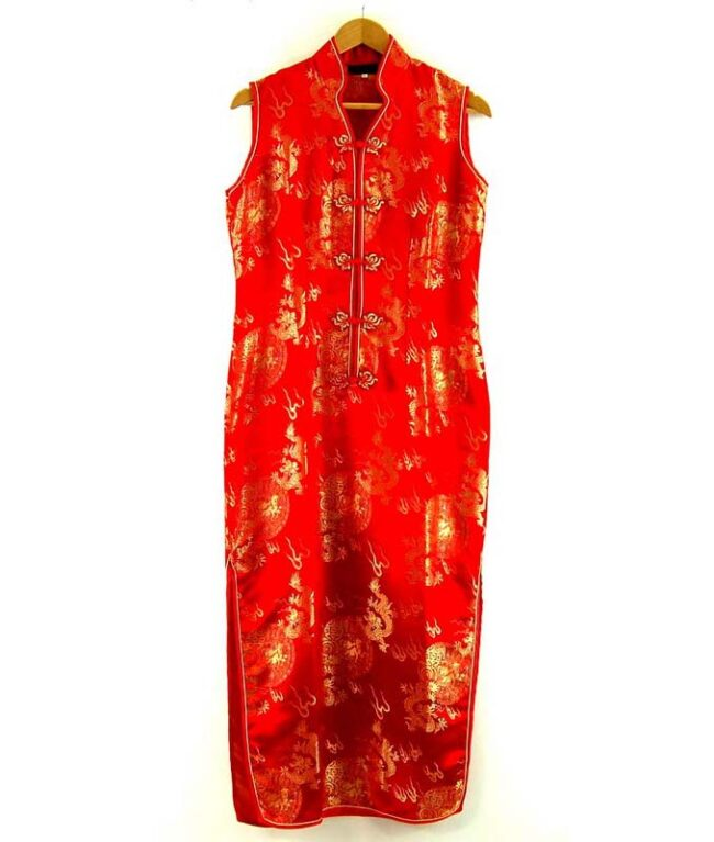 Long Red Chinese Dress