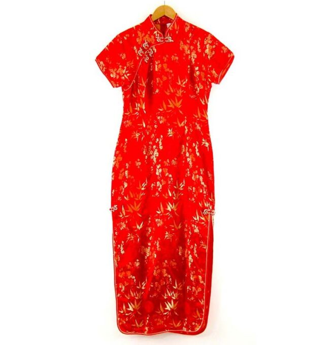 Red And Gold Chinese Dress