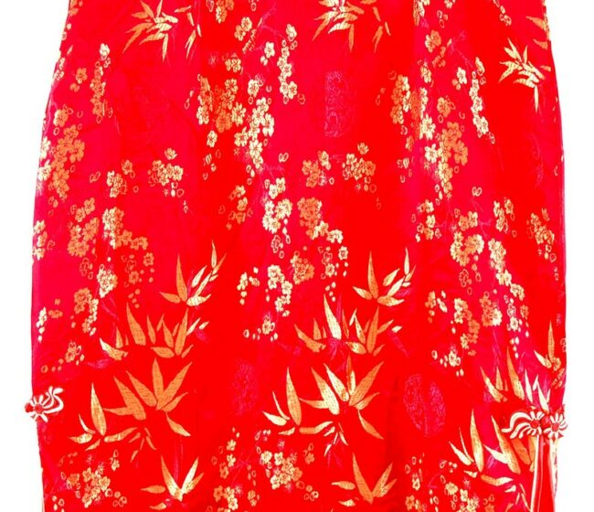 Close up Red And Gold Chinese Dress