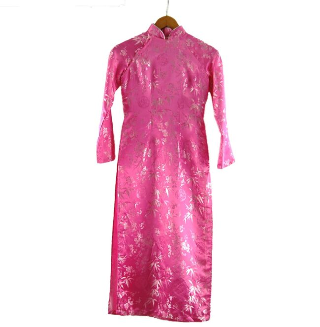 Pink Cherry Blossom Chinese Dress For Ladies