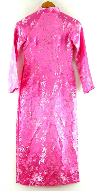 Back of Pink Cherry Blossom Chinese Dress For Ladies
