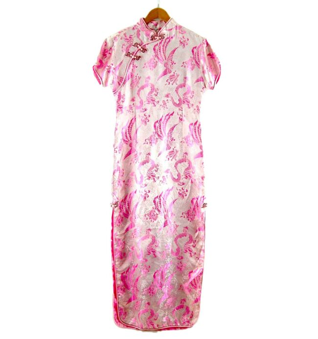 Pink Dragon Chinese Floral Dress