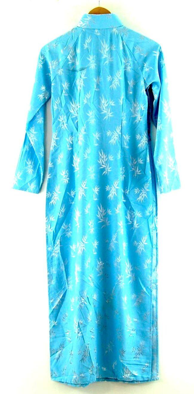 Back of Blue Vietnamese Dress