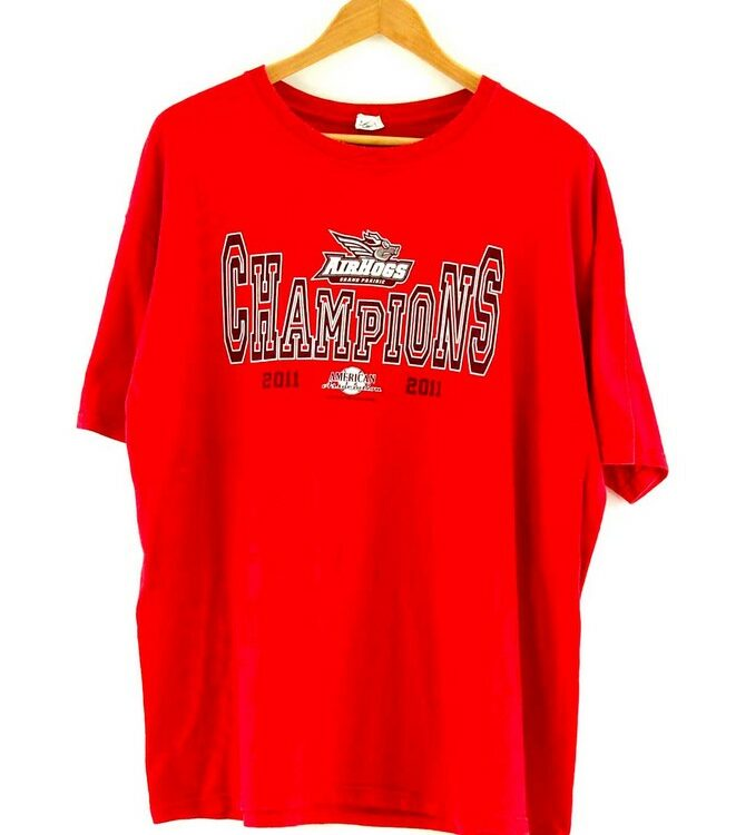 Red Grand Prairie Texas Airhogs Baseball Tee