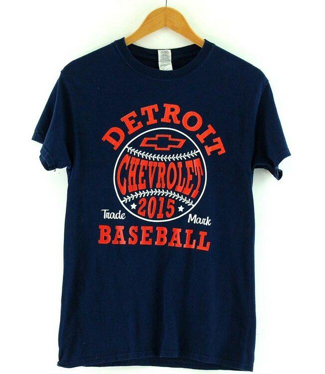 Navy Detroit baseball Retro Graphic Tee