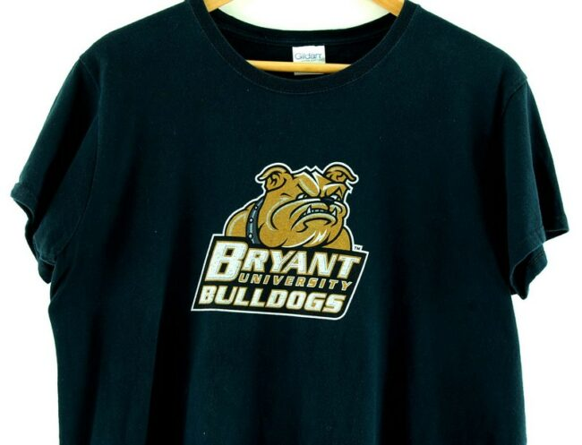 Close up of Black Bryant University Bulldogs Tee