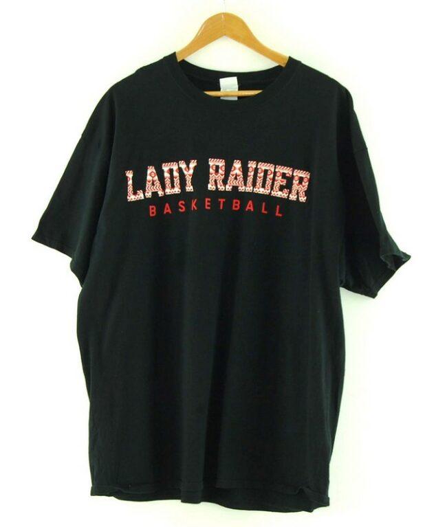 Black Lady Raiders Basketball Tee