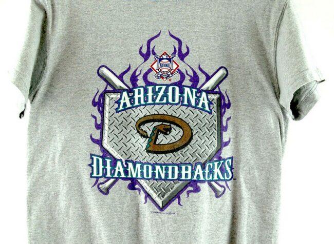 Close up of Grey Arizona Diamondbacks T Shirt