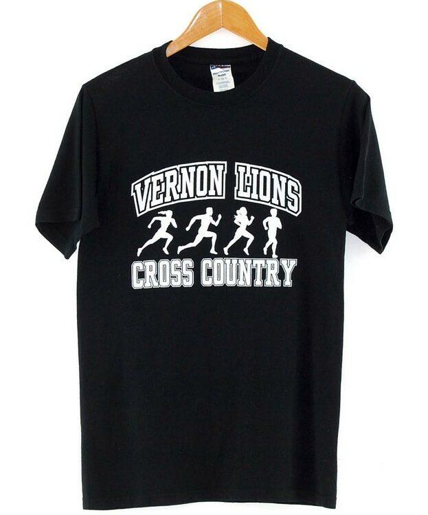 Black Vernon Lions Cross Country American T Shirt