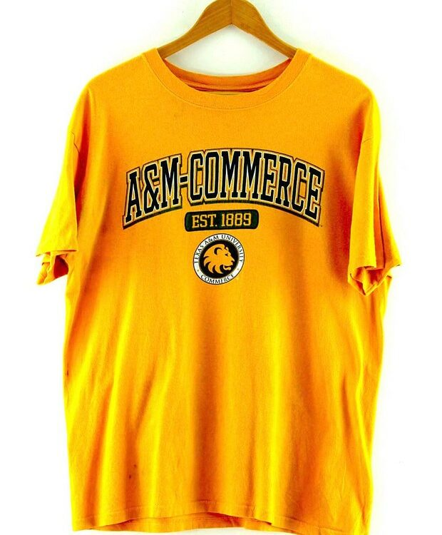 Yellow Texas A And M University Commerce T Shirt