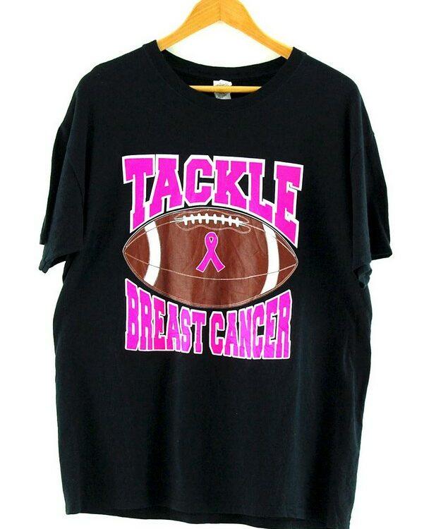 Tackle Breast Cancer Gildan Black T Shirt
