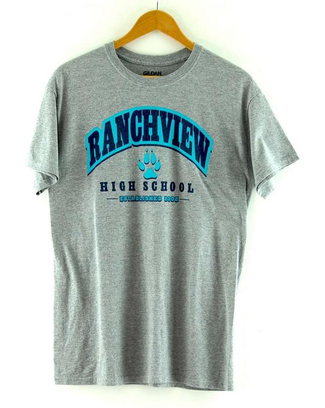 Grey Ranchview High School Tee