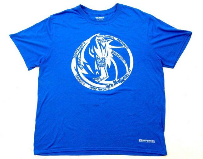 2014 Dallas Mavs Vintage Graphic T Shirt