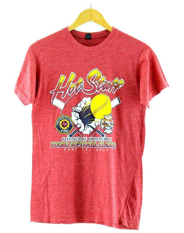Hot Stuff Hero Softball Classic T Shirt