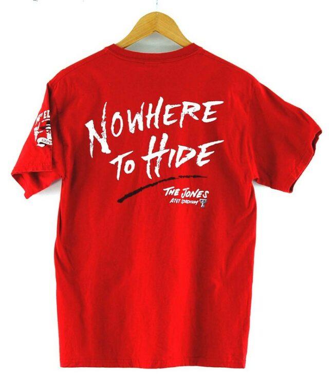 Back of Texas Tech Red Raiders T Shirt