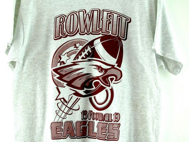 Close up of Rowlett Eagles Vintage T Shirt