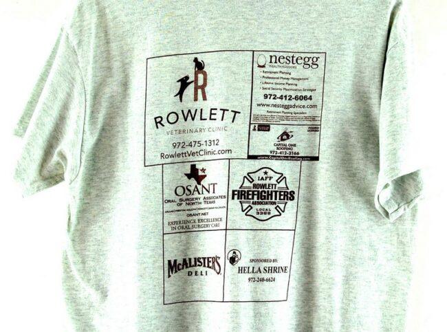 Back of Rowlett Eagles Vintage T Shirt