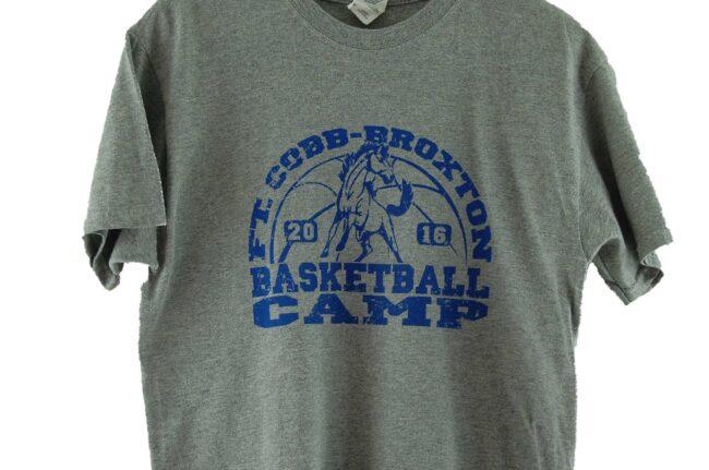 Close up of Broxton Camp Vintage Basketball T Shirt
