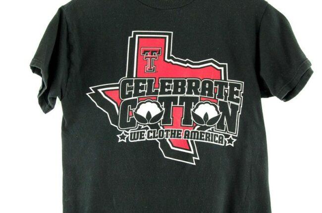 Close up of Celebrate Cotton Vintage T Shirt