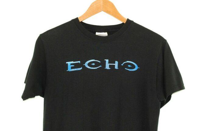 Close up of Echo Vintage Black T Shirt