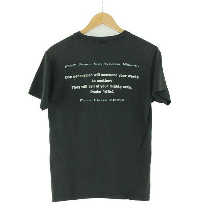 Back of Echo Vintage Black T Shirt