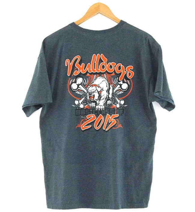 Back of Bulldogs Sports Vintage Tee