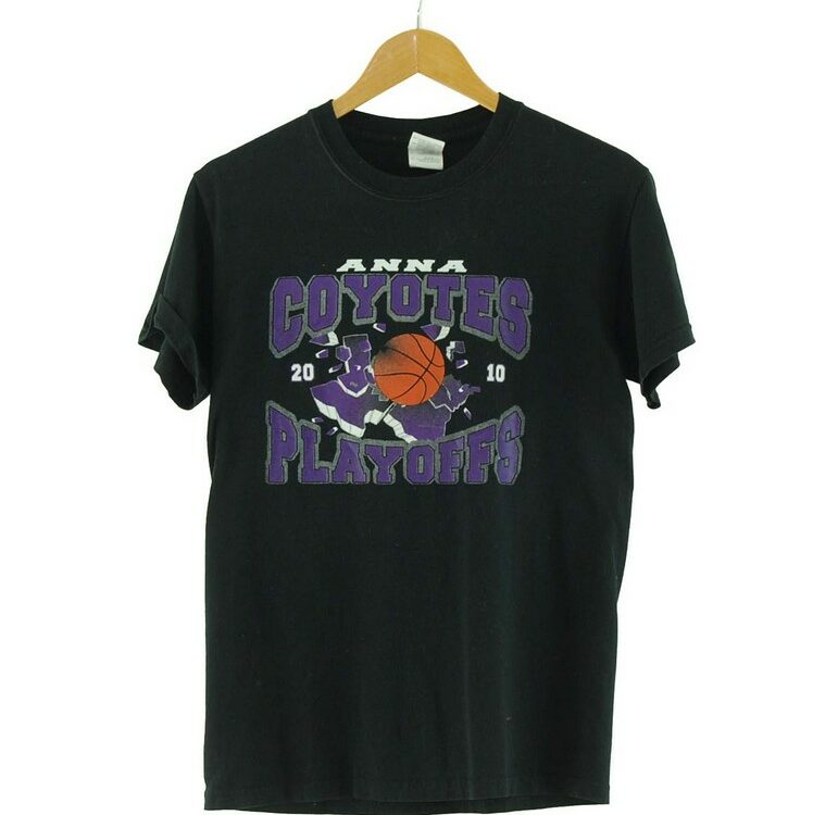 Coyotes Playoffs Retro Print T Shirt